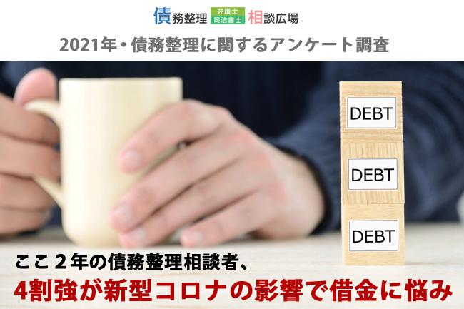 債務整理時期、借金の原因等を債務整理相談者177名対象に調査|2021年3月 調査報告